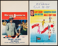"Beau James and Other Lot (Paramount, 1957). Window Cards (2) (14"" X 22""). Drama"