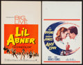 "Movie Posters:Musical, Li'l Abner and Other Lot (Paramount, 1959). Window Cards (2) (14"" X 22""). Musical.. ... (Total: 2 Items)"