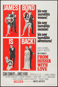 "From Russia with Love (United Artists, 1964). One Sheet (27"" X 41"") Style A. James Bond"