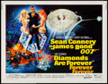 "Movie Posters:James Bond, Diamonds are Forever (United Artists, 1971). Half Sheet (22"" X28""). James Bond.. ..."