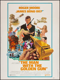 "The Man with the Golden Gun (United Artists, 1974). Poster (30"" X 40""). James Bond"