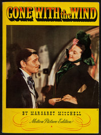 Gone with the Wind by Margaret Mitchell (Macmillan Company, 1939). Illustrated Motion Picture Edition Soft Cover Book (3...