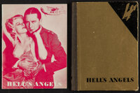 """Hell's Angels (Western Lithograph Co., 1930). Programs (2) (Multiple Pages, 5"""" X 7""""). War. ... (Total: 2 Items..."""