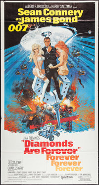 "Diamonds are Forever (United Artists, 1971). Three Sheet (41"" X 76.5""). James Bond"