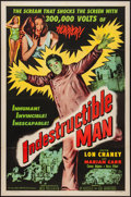 "Movie Posters:Horror, Indestructible Man (Allied Artists, 1956). One Sheet (27"" X 41"").Horror.. ..."