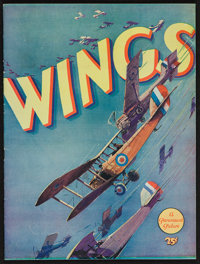 "Wings (Paramount, 1927). Souvenir Program (20 Pages, 9"" X 12""). Academy Award Winners"