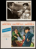 """Movie Posters:Romance, Audrey Hepburn in Sabrina & Other Lot (Paramount, 1954). Lobby Cards (2) (11"""" X 14"""") & Photo (8"""" X 10""""). Romance.. ... (Total: 3 Items)"""