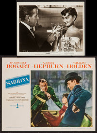 "Audrey Hepburn in Sabrina & Other Lot (Paramount, 1954). Lobby Cards (2) (11"" X 14"") & Photo (..."