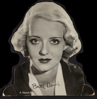 "Bette Davis (Warner Brothers, 1930s). Table Top Standee (7"" X 7.5""). Drama"