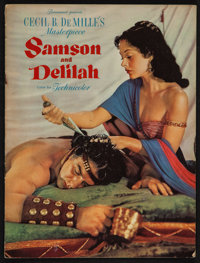 "Samson and Delilah (Paramount, 1949). Program (Multiple Pages, 9"" X 12""). Adventure"