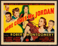 "Movie Posters:Fantasy, Here Comes Mr. Jordan (Columbia, 1941). Title Lobby Card (11"" X14""). Fantasy.. ..."