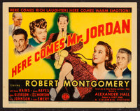 "Here Comes Mr. Jordan (Columbia, 1941). Title Lobby Card (11"" X 14""). Fantasy"