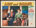 """Movie Posters:Western, Law and Order (Universal International, 1953). Lobby Card (11"""" X14""""). Western.. ..."""