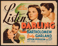"Movie Posters:Comedy, Listen, Darling (MGM, 1938). Title Lobby Card (11"" X 14""). Comedy....."