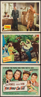 """You Never Can Tell and Others Lot (Universal International, 1951). Title Lobby Card and Lobby Cards (2) (11"""" X 14&q..."""