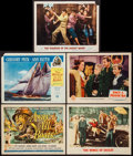 "Movie Posters:War, Away All Boats & Others Lot (Universal International, 1956).Title Lobby Card & Lobby Cards (4) (11"" X 14""). War.. ...(Total: 5 Items)"