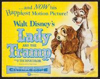 "Lady and the Tramp (Buena Vista, 1955). Title Lobby Card (11"" X 14""). Animation"