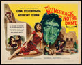 "Movie Posters:Horror, The Hunchback of Notre Dame (Allied Artists, 1957). Half Sheet (22""X 28"") Style B. Horror.. ..."