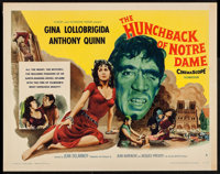 "The Hunchback of Notre Dame (Allied Artists, 1957). Half Sheet (22"" X 28"") Style B. Horror"