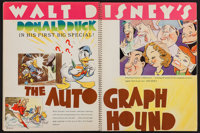 "Walt Disney Exhibitor Book (RKO, 1938-39). Spiral Bound Exhibitor Book (9"" X 12"", 22 Pages). Comedy"