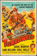 "Movie Posters:Western, Tumbleweed (Universal International, 1953). One Sheet (27"" X 41"").Western.. ..."