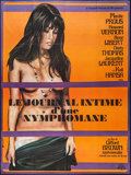 "Movie Posters:Adult, Diary of a Nympho (CFFP, 1973). French Grande (46"" X 61.5""). Adult.. ..."