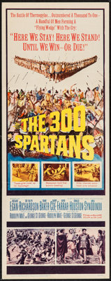 """The 300 Spartans (20th Century Fox, 1962). Insert (14"""" X 36""""). Action"""