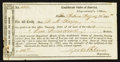 Confederate Notes:Group Lots, Interim Depositary Receipt San Antonio, TX- $100 Aug. 23, 1864Tremmel TX-82.. ...