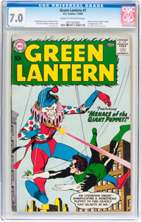 Green Lantern #1 (DC, 1960) CGC FN/VF 7.0 Cream to off-white pages