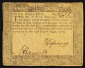 Colonial Notes:Maryland, Maryland August 14, 1776 $4 Very Fine.. ...
