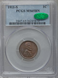 Lincoln Cents: , 1911-S 1C MS65 Brown PCGS. CAC. PCGS Population (7/0). NGC Census:(28/0). Mintage: 4,026,000. Numismedia Wsl. Price for pr...