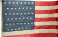 Political:Textile Display (1896-present), Flags: 45-Star Flag....