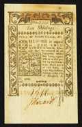Colonial Notes:Rhode Island, Rhode Island May 1786 10s Choice New.. ...