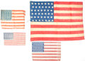 Political:Textile Display (pre-1896), Flags: Four Nice Examples.... (Total: 4 Items)