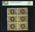 Fractional Currency:Second Issue, Block of Six Fr. 1245 10¢ Second Issue PCGS Apparent Extremely Fine 45.. ...