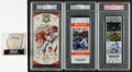 Baseball Collectibles:Tickets, Full Ticket Signed Collection - Lot of 3. ...