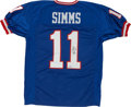 Football Collectibles:Uniforms, Phil Simms Signed Jersey....