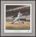 Baseball Collectibles:Others, Joe DiMaggio Signed Lithograph. ...