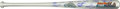 Baseball Collectibles:Bats, 1986 New York Mets Team Signed Bat With Nicknames Inscribed. ...