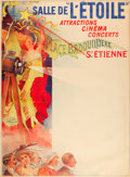 "Movie Posters, Salle de L'Étoile (1910). French Theatre Poster, French Grande (46""X 62.75"").. ..."