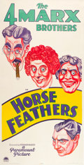 """Movie Posters:Comedy, Horse Feathers (Paramount, 1932). Three Sheet (41"""" X 81"""").. ..."""