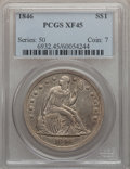 Seated Dollars: , 1846 $1 XF45 PCGS. PCGS Population (96/297). NGC Census: (59/293).Mintage: 110,600. Numismedia Wsl. Price for problem free...