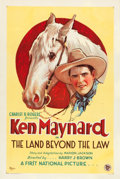 "Movie Posters:Western, The Land Beyond the Law (First National, 1927). One Sheet (27"" X41"").. ..."