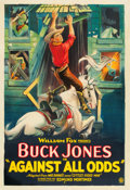 "Movie Posters:Western, Against All Odds (Fox, 1924). One Sheet (27"" X 41"").. ..."