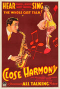 "Movie Posters:Musical, Close Harmony (Paramount, 1929). One Sheet (27"" X 41"") Style A.. ..."