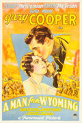 "Movie Posters:Romance, A Man from Wyoming (Paramount, 1930). One Sheet (27"" X 41"") StyleA.. ..."