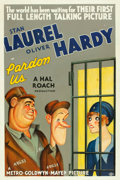 "Movie Posters:Comedy, Pardon Us (MGM, 1931). One Sheet (27"" X 41"").. ..."