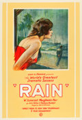 "Movie Posters:Drama, Jeanne Eagels in Rain (Sam H. Harris, 1924). Theater Poster (28"" X40.5"").. ..."