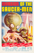 "Movie Posters:Science Fiction, Invasion of the Saucer-Men (American International, 1957). OneSheet (27"" X 41""). From the collection of Wade Williams...."