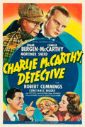 "Movie Posters:Comedy, Charlie McCarthy, Detective (Universal, 1939). One Sheet (27"" X41"") Style A. From the Leonard and Alice Maltin Collectio..."